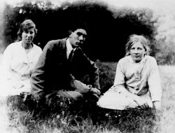 Francis Turville-Petre with his two sisters